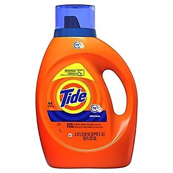 Tide Liquid Laundry Detergent Soap High Efficiency  HE  Original Scent 64 Loads
