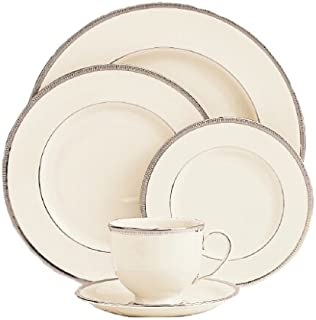 Lenox Tuxedo Platinum-Banded 5-Piece Place Setting, Service for 1