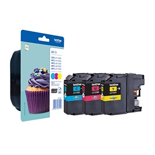 Brother LC123RBWBPDR Tintenpatrone MultiPack für DCP-J 4110 W/MFC-J 4410 DW/4510 DW/4610 DW/4710 DW