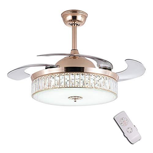 Moderno a LED lampadario a ventaglio, Ventilatori da Soffitto Lampada Dimmerabili con Telecomando Lampada Ventilatore a Scomparsa,camera da letto lampada da soffitto,42