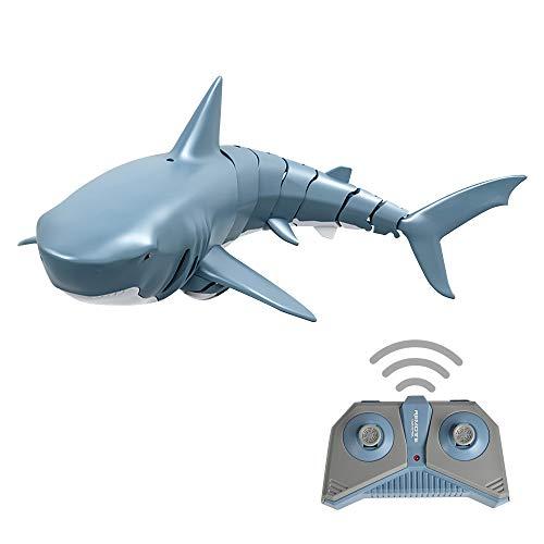 Godyluck- Mini RC Shark Fernbedienung Spielzeug Schwimmspielzeug Unterwasser RC Boot Elektro Rennboot Parodie Spielzeug Pool