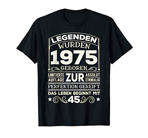 45. Geburtstag Geschenk Lustig 1975 Mann Frau 45 Jahre Party T-Shirt