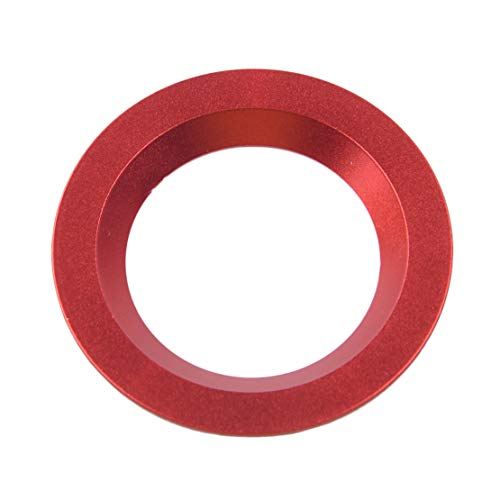 CITALL Arrêt de démarrage du moteur Interrupteur d'allumage Bouton poussoir Bague décorative Garniture Rouge