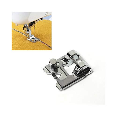 FRJYJLLL Gran Tornillo de incrustación de Lentejuelas prensatelas para máquinas de Coser caseras Trenzado Tejido Herramientas de Costura de Bricolaje