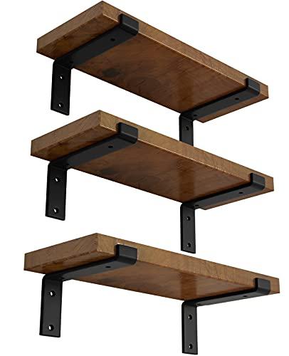 LEOPO 8 inch Shelf Bracket for DIY Floating Shelf, 1/5 inch Thick Heavy Duty Bracket, 6 Pack, Z Shelf Brarcket