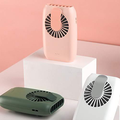 Yosemite Ventilador de mano Mini portátil colgante cintura cuello USB poder de carga con 3 velocidades Banco Ventilador de enfriamiento de escritorio - Verde