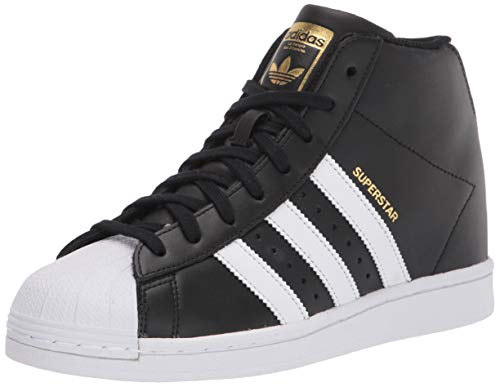 adidas Originals Women's Superstar Up Sneaker, Black/White/Gold Metallic, 11 M US