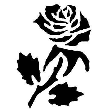 Kreul Fantasy Tattoo Stencil Rose, 1pezzi
