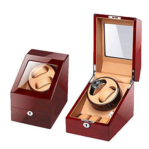 Caixa automática de relógio mecânico, caixa para 2 armazenamento rotativo e 3 caixa de exibição de broca de armazenamento de relógio 5 modos de rotação Enrolador de relógio com motor silencioso durável adequado para relógios masculinos e femininos