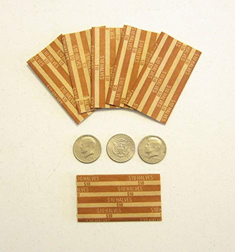 40 Paper Coin Wrappers for Half Dollar Coins 50 Cent Pieces Halves Wrapper