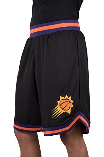 Ultra Game NBA Phoenix Suns Mens Woven Basketball Shorts, Team Color, Large