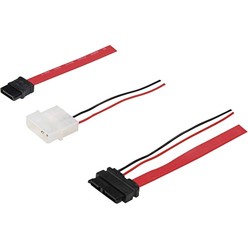 Manhattan 308137 - kabel-interface/adapter (7 pin male/7 + 6 pin male, 4 pin 5 V - 12 V Molex, male connector/male connector, 0,3 m, zwart, wit)