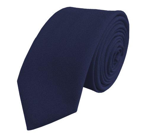 Great British Tie Club Hommes Plaine Maigre Cravates - Différentes couleurs (Bleu Marin)