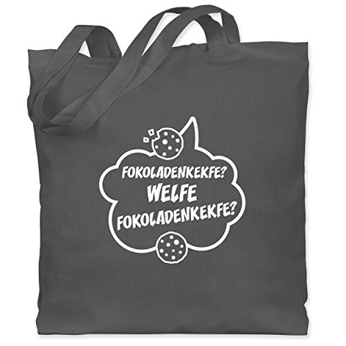 Shirtracer Küche - Fokoladenkekfe Spruch - Unisize - Dunkelgrau - XT600_Jutebeutel_lang - WM101 - Stoffbeutel aus Baumwolle Jutebeutel lange Henkel