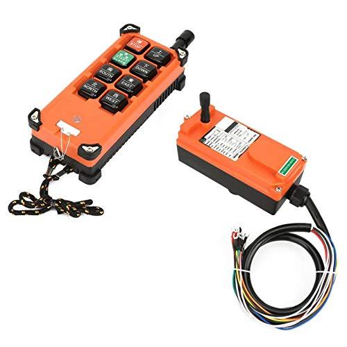 Receptor transmisor de control remoto industrial, aceleración duradera Receptor de control remoto industrial, para polipasto móvil de dos mecanismos, gancho simple, velocidad única