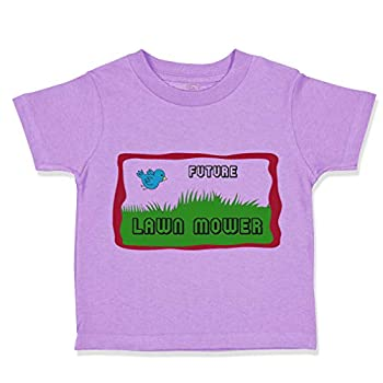 Custom Toddler T-Shirt Future Lawn Mower Picture of A Blue Bird Cotton Boy & Girl Clothes Funny Graphic Tee Lavender Design Only 2T