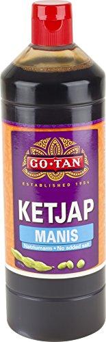 Go-Tan Ketjap Manis Sojasaus, 1 liter, verpakking van 6 stuks