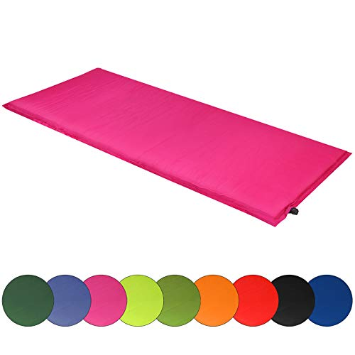 ALPIDEX Isomatte Selfinflating Matte Selbstaufblasende Outdoor Thermomatte in Verschiedene Größen und Farben, Maße:190 x 60 x 2.5 cm, Farbe:Berry