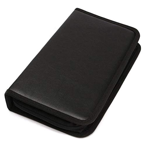 Alftek 80 stuks CD DVD VCD Disc houder Album draagbare map portemonnee opbergkoffer draagtas Organizer