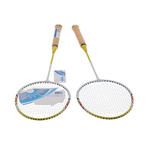 Bnineteenteam Raquetas de bádminton, SG8004 Juego de Raquetas de bádminton para 2 Jugadores, Raquetas Dobles Ligeras para Adultos y niños