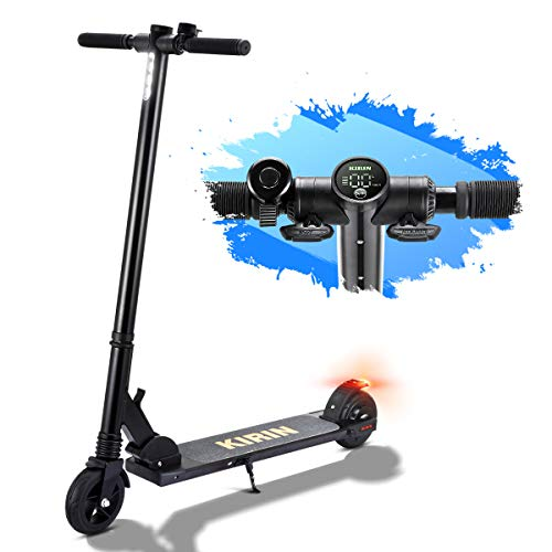 Electric Scooters Ultra Lightweight Folding Adult Electric Scooter 150W Motor Electric Kick Scooter 5.5 Inch Solid Tires 15km Range Suitable for Women and Teenagers, Kugoo ES01 Mini