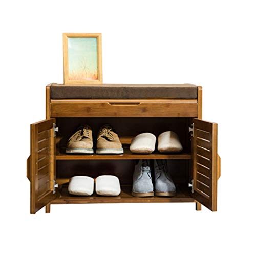 Zapatero CWT Simple Gabinete de Almacenamiento pequeño Zapato pequeño de Madera Maciza Banco de Zapatos Moderno a Prueba de Polvo (Size : 60cm)