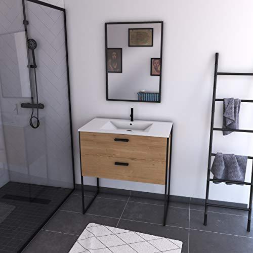 Ensemble meuble de salle de bain 80x45cm style industriel co