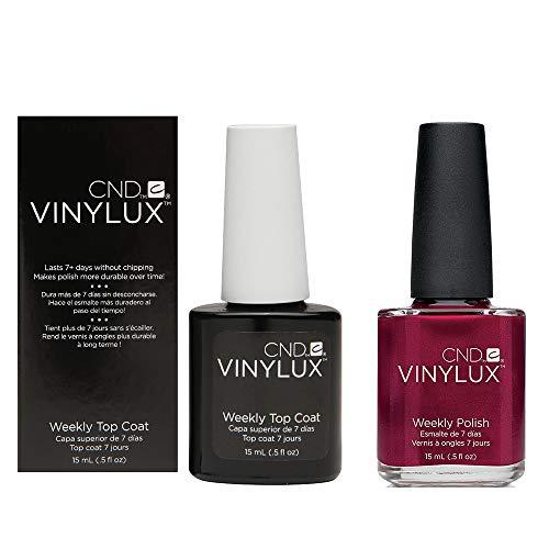 CND Vinylux Duo Top Coat Plus Smalto per Unghie, Red Baroness - Confezione da 2 x 15 ml