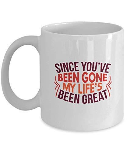 Queen54ferna Regalos para los amantes de la música: Since You've Been Gone - Música, letras opuestas, canciones, cantante, taza de café de la vida, taza de té de cerámica blanca, 11 oz