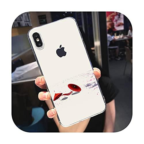 Caso chino del teléfono del fondo del viento para el teléfono móvil para el iphone se 5 6 S 7 8 más Xr X Xs Max 11 12 Pro Max-a4-para iphone11promax