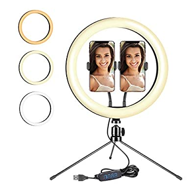 "New 12"" LED Ring Light with Tripod Stand an..."