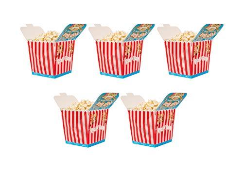 Aperisnack - AP03.016.03 Pop Box Salati 100g (5 Box) - Secchiello di Popcorn Salati per Micro onde pronti in pochi minuti