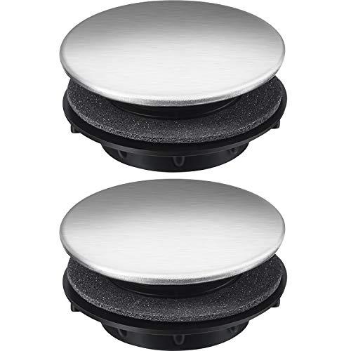 Spültipplochdeckel Küchenarmatur Lochdeckel Edelstahl, 2 Packungen (1,2 bis 1,6 Zoll Durchmesser)