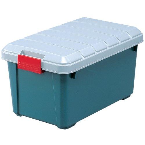 アイリスオーヤマ 収納 BOX 615×375×330 RVBOX 600 グレー/ダークグリーン