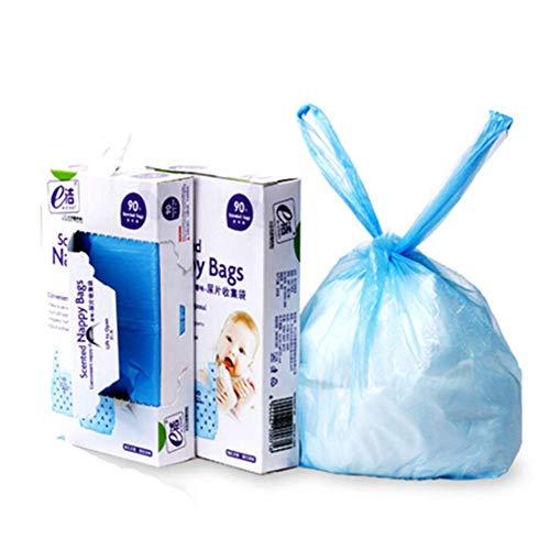 おむつがにおわない袋 おむつ 処理袋 防臭袋 消臭袋 ビニール袋 トイレ用ゴミ袋 ゴミ袋 持ち運び便利 180枚...