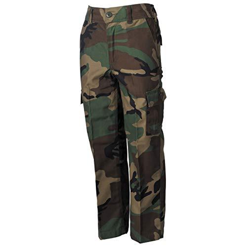 MFH US Army BDU Kinderhose für Jungen und Mädchen (Woodland/XXL (170/176))