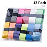 12 Pieces Tennis Badminton Racket Overgrips for Anti-Slip and Absorbent Grip (Multicolored)