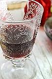 Sendez 6 Weingläser mit Relief 280ml auf Fuß Rotweingläser Weißweingläser Saftgläser Trinkgläser - 4