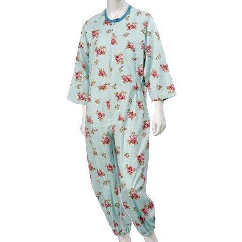 コベス 婦人つなぎパジャマ サックス No.906 M