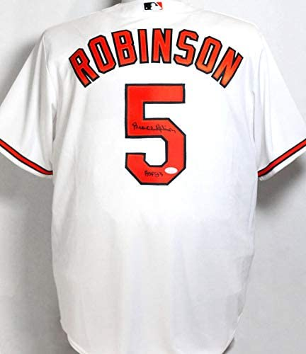 Brooks Robinson Autographed Clearance SALE! Limited time! Special price Baltimore Orioles Jersey White HOF w