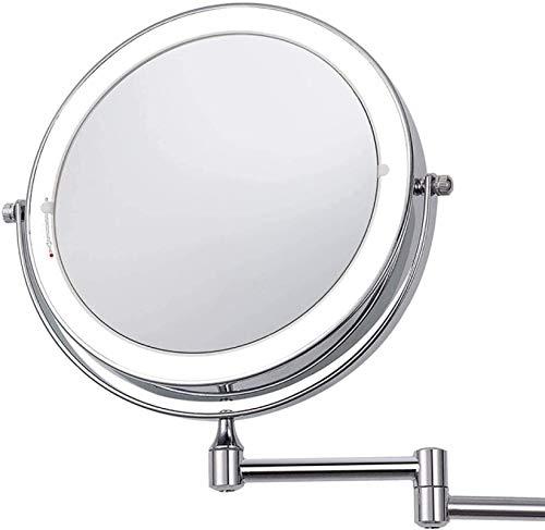 7x Lupa verglich Maquillaje LED Espejo 2 Caras Táctil Luces Led Montaje Pared Espejos de Baño de Montaje en Vanidad 8 Pulgadas