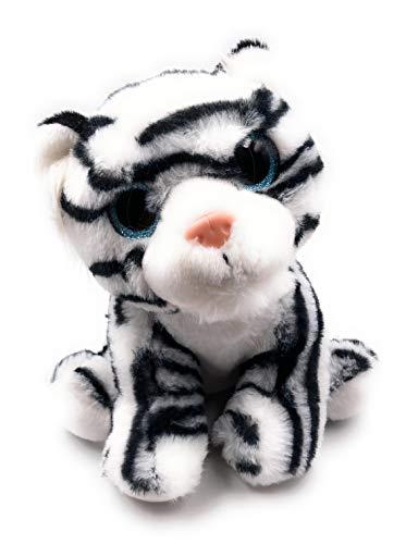 Onwomania Peluche Animal de Peluche Tigre Rey Tigre de Las Nieves Blanco Largo 25 cm Blanco