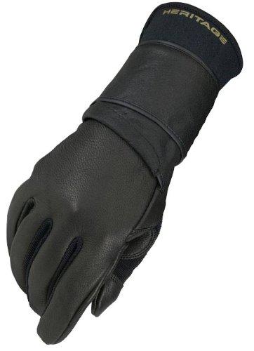 Heritage Pro 8.0 Bull Riding Gloves, Size 9, Black