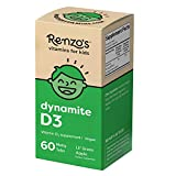 Renzo's Vitamin D3 for Kids - Vegan Vitamin D for Kids with Zero Sugar, Non-GMO Vitamin D3 1000 IU, Lil' Green Apple Flavor, Dissolvable and Easy to Take Chewable Vitamin D Tablets [60 Melty Tabs]