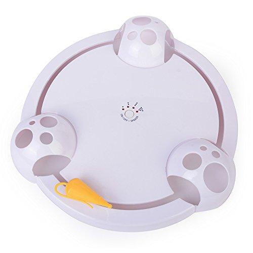 QINYL Crazy Cat Play Board, grappig interactieve roating Springen Seek Mouse Speel Dispet Speelgoed Wit