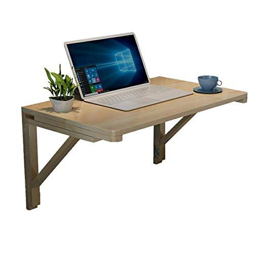 QZH Mesa plegable de madera maciza para ordenador, mesa de comedor, mesa de trabajo, estante de oficina, 7 tamaños (70 x 40 cm)
