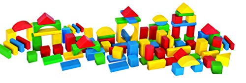 Eichhorn 100 bunte Holzbausteine in Aufbewahrungsbox und Sortierdeckel, FSC 100{f59158094d79102a49bad65e98840ece5c0e1e75b6df1e16f08e182be8e4d361} zertifiziertes Buchenholz, Holzbausteine hergestellt in Deutschland, Motorikspielzeug geeignet für Kinder ab 1 Jahr