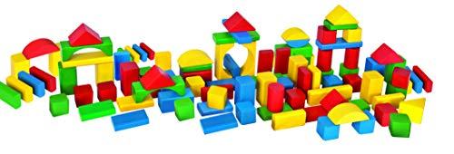 Eichhorn 100 bunte Holzbausteine in Aufbewahrungsbox und Sortierdeckel, FSC 100% zertifiziertes Buchenholz, Holzbausteine hergestellt in Deutschland, Motorikspielzeug geeignet für Kinder ab 1 Jahr