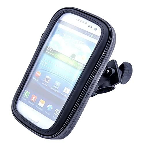 XIAOZHIWEN Bicicleta de Bicicleta Impermeable Bicicleta Soporte de teléfono móvil Soporte de Motocicleta Manillar Bolsa para Samsung Galaxy S3 / S4 / S5 / S6 / S6 Edge / S7 HNXZW (Color : S9)