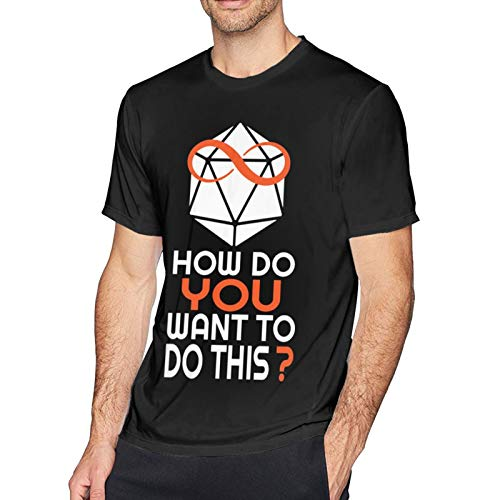 Lindaony Short Sleeve T-Shirt How Do You Want to Do This Unisex Basic T-Shirt Small Black